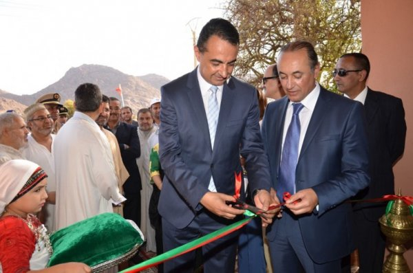 Mohamed Dekkak, Chairman and Founder of Adgeco Group with the H.E Governor Samir Layazidi inauguration project Tafraout