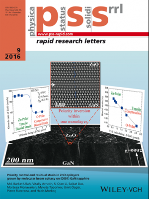 Image for research focus on Polarity control and residual strain in ZnO epilayers grown by molecular beam epitaxy