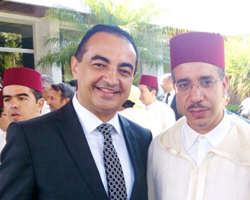 Mohamed Dekkak with Minister Aziz Rabbah, Ministry Of Equipment, Transport And Logistics, Morocco