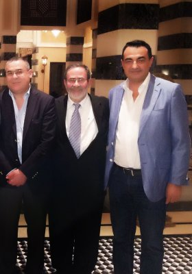 Chairman and Founder of Adgeco Group Mohamed Dekkak with His Excellency Benjamin Assor and President of The Chamber of Commerce and Industry of Casablanca His Excellency Hasan Berkani