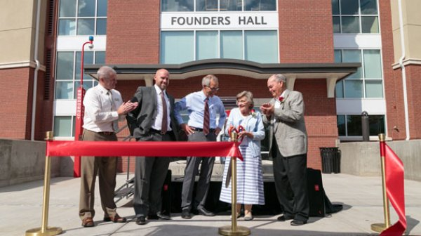 Jared Tippets, Founders Hall Ribbon Cutting, Southern Utah University