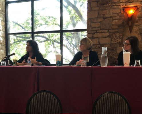 Leslie Ellis-Lang participating in a panel presentation on the Family First Prevention Services Act at the Texas-Child-Care-Administrators-Conference, 2018