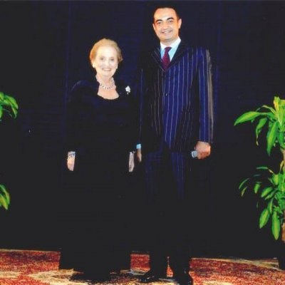 Honorable Madeleine Albright, United States Secretary of State with Mohamed Dekkak , Chairman and Founder of Adgeco Group