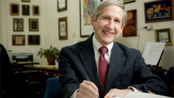 Sam Gladding, chair of the Department of Counseling, Wake Forest University, in his office in Tribble Hall