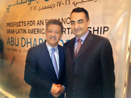 His Excellency Leonel Fernandez, President of Republic Of Dominican and Mohamed Dekkak