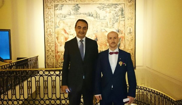 Mohamed Dekkak with Prince and Grand Duke Jorge Rurikovich at Westin Palace Madrid