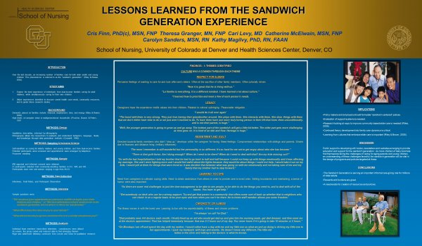 Lessons learned from the sandwich generation experience