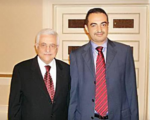 Honorable Palestinian President Mahmoud Abbas and Mohamed Dekkak, Chairman and Founder of Adgeco Group