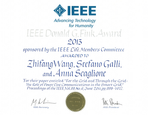 Image for photos on 2013 IEEE Donald G. Fink Award