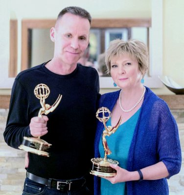Mike and Susan with their regional Emmy Awards
