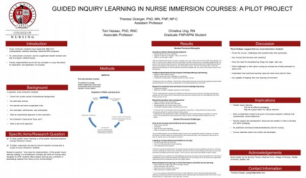 Guided inquiry learning in nurse immersion courses: A pilot project