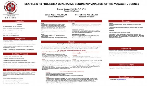 Seattle's P3 Project: A qualitative secondary analysis of the voyager journey