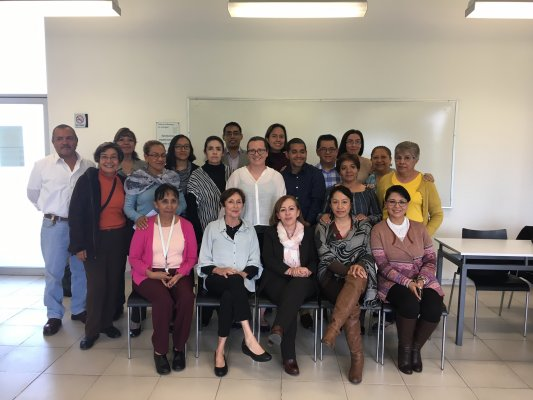 Dr Naegle with Meyers faculty and faculty, School of Nursing and Obstetrics, Autonomous University of Mexico, Mexico City, 2017