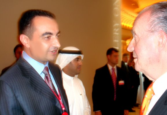 His Majesty of Spain Juan Carlos with Mohamed Dekkak, Chairman & Founder of Adgeco Group