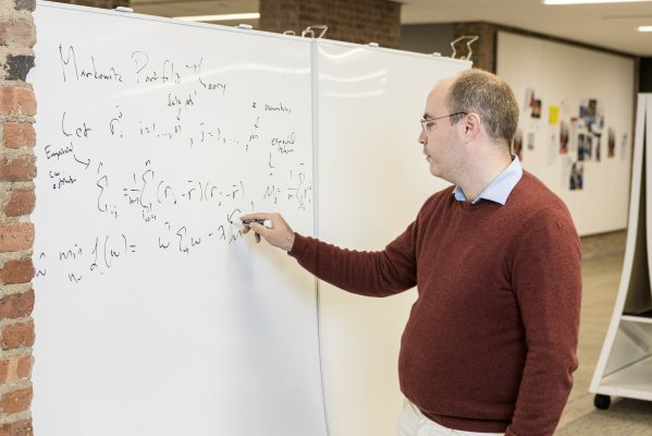 Professor Stephen Taylor at whiteboard