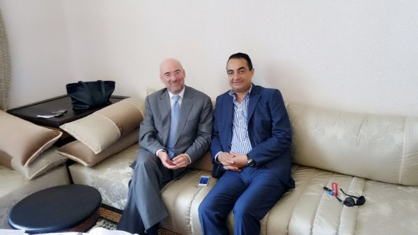 H.E Bruno Pouezat, United Nation Resident Co-ordinator in Morocco with Chairman and Founder of Adgeco Group Mohamed Dekkak