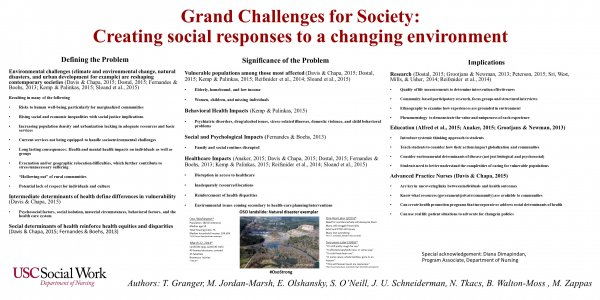 Grand challenges for society: Creating social responses to a changing environment